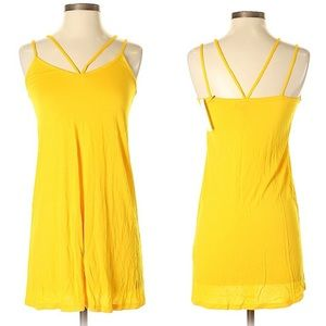 ASOS Swim Coverup yellow light dress cutout 0 xs
